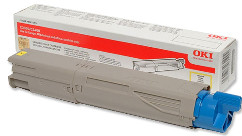 Mực in Oki C3300n/C3400n/C3600n Yellow Toner Cartridge (43459453)